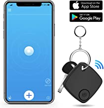 Key Finder Smart Tracker - Key Finder Locator with App for Phone - Bluetooth Phone Finder Wallet Tracker for Keychain Bag Purse Luggage - Anti Lost Tracking Device Replaceable Battery Item Finder
