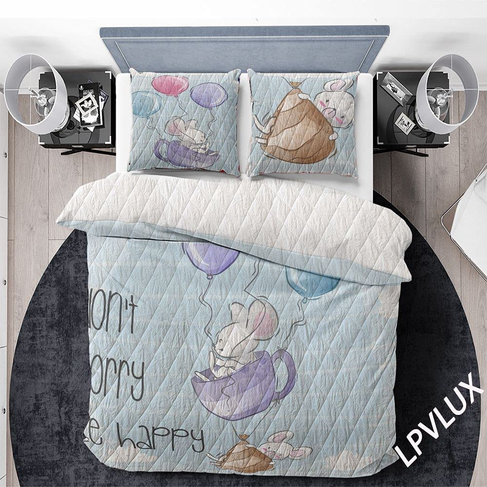 GANTEE Max 90% OFF Baby Mouse Flying with Set Cheap 3Ps Ballon Quilts Bedding