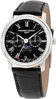 Frederique Constant Classics Black Dial Leather Strap Men's Watch FC-270BR4P6