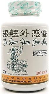 Yinqiao Cold Remedy Dietary Supplement 500mg 100 Capsules (Yin Qiao Wai Gan Ling, Yin Qiao San) C08 100% Natural Herbs