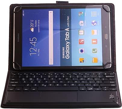 J amp H Universal-Leder-Schutzh lle f r Alcatel Pixi 10 Tastatur Kunstlederh lle mit Bluetooth-Tastatur Touchpad Maus f r Alcatel Pixi 10 Schätzpreis : 38,23 €