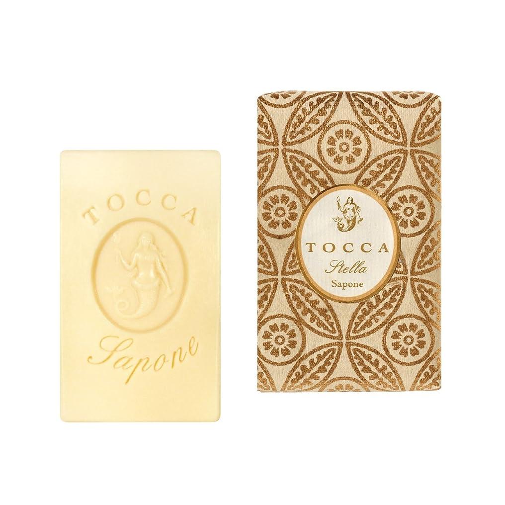 縫い目前にトレーストッカ(TOCCA) ソープバー ステラの香り 113g(石けん 化粧石けん イタリアンブラッドオレンジが奏でるフレッシュでビターな爽やかさ漂う香り)