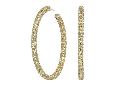 Kendra Scott Maggie 2.5 Hoop Earrings (Gold Filigree Metal) Earring