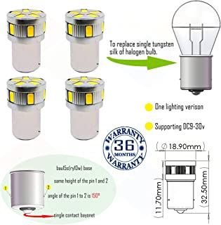 Wiseshine ry10w py21w 7507 5009 1156py s25 canbus turn signal led bulb DC9-30v 3 years quality assurance (pack of 4) bau15s 11smd 5630 Yellow