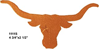 #1111S Texas Flag,Longhorns,Bull Embroidery Iron ON Applique Patch by ETDesign (Size 4 3/4