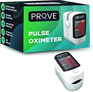 Prove Fingertip Pulse Oximeter with Lanyard | For Measuring Pulse Rate and SP02