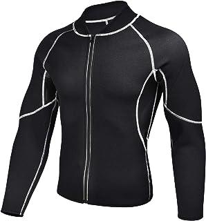 GKVK Men Waist Trainer Vest Neoprene Corset Compression Sweat Body Shaper Slimming Shirt Workout Suit