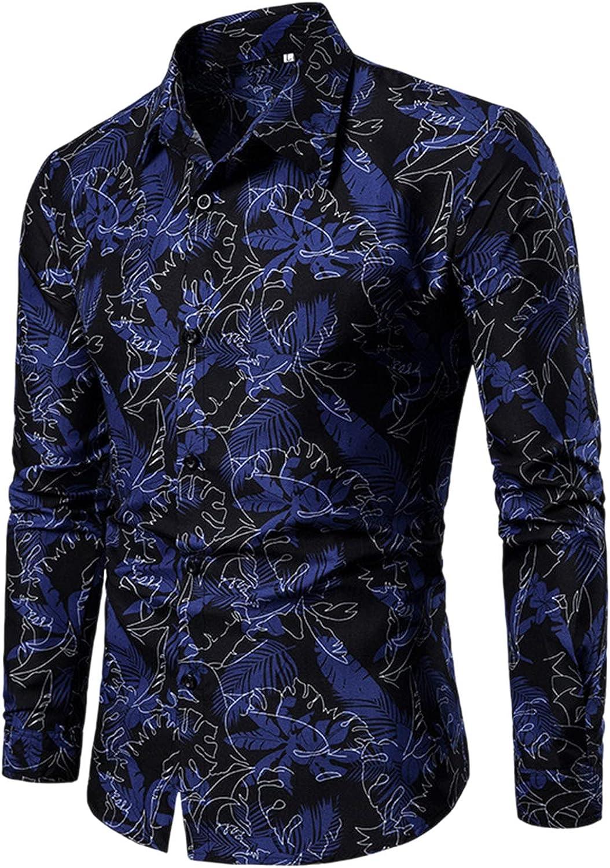 xoxing Long Sleeve for Men Plus Size Button Down Stretch Shirt Solid Color Pocket Lapel Linen Shirt Tops Blouse(K)