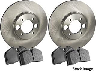 Stirling Note: w//o Sport Pkg 2014 For Mercedes-Benz CLA250 Front Cross Drilled Slotted and Anti Rust Coated Disc Brake Rotors and Ceramic Brake Pads