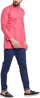 Sojanya Men's Short Kurta Cotton Blend