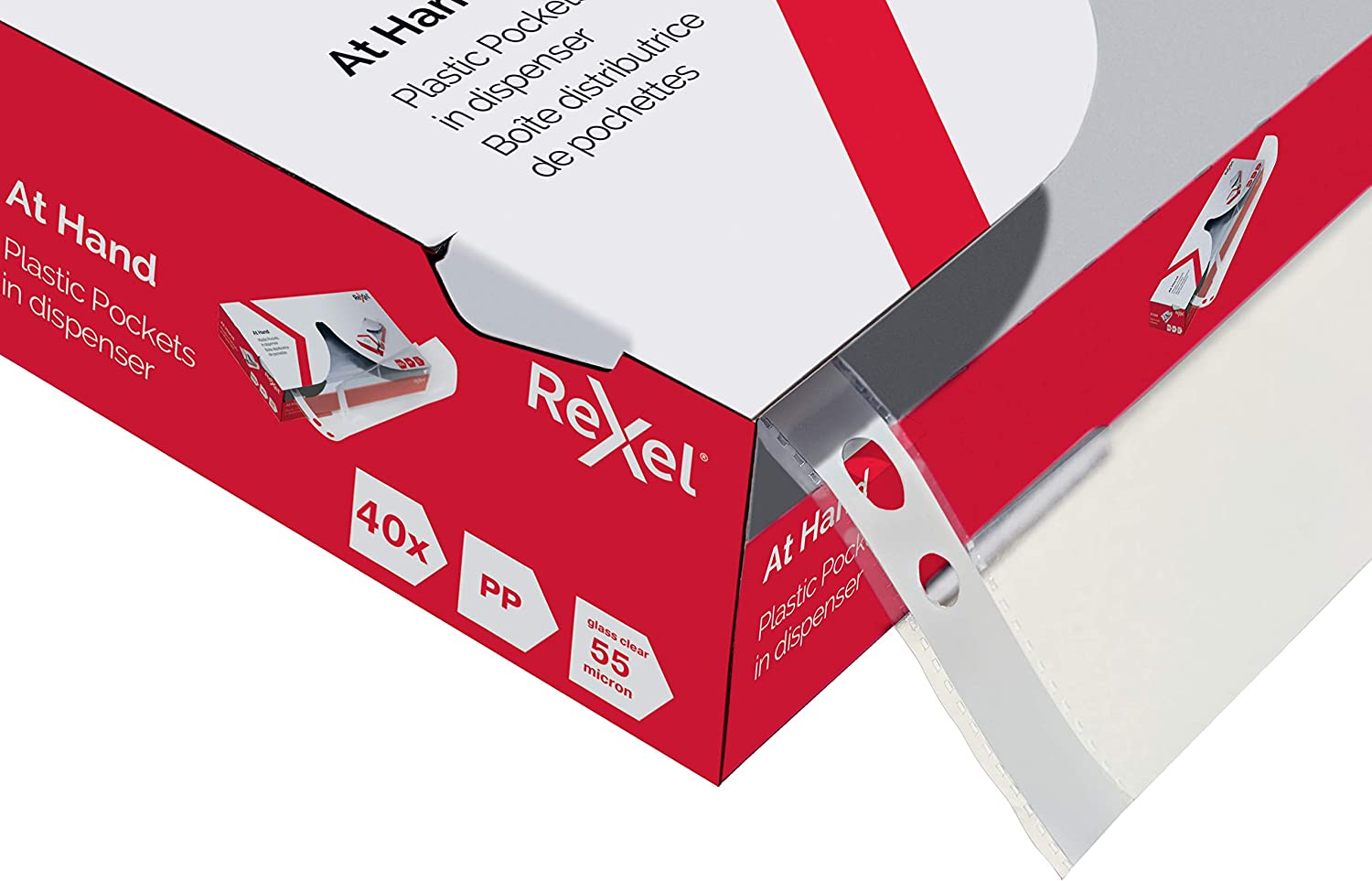 Rexel Nyrex Reinforced Side Opening Pockets A4 90 Micron Embossed Pack of 25