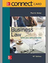 Connect Access Card for Business Law with UCC Applications