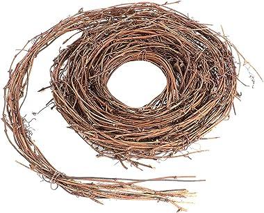 Garneck 15Ft Twig Garland, Christmas DIY Crafts Natural Grapevine Twig Garland Wreaths Decor for Christmas Holiday Home Decor