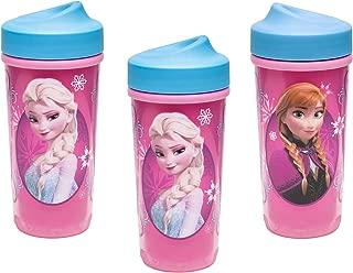 [3-Pack] Zak Designs Toddlerific Perfect Flo Toddler Cup, Disney's Frozen Anna Elsa