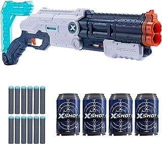 XShot Excel Vigilante Foam Dart Blaster (12 Darts, 4 Cans) by Zuru
