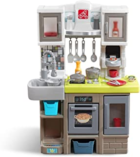 Step2 Contemporary Chef Kitchen   Colorful Plastic Play Kitchen   Kids Kitchen Playset with 25-Pc Toy Accessories Set Included