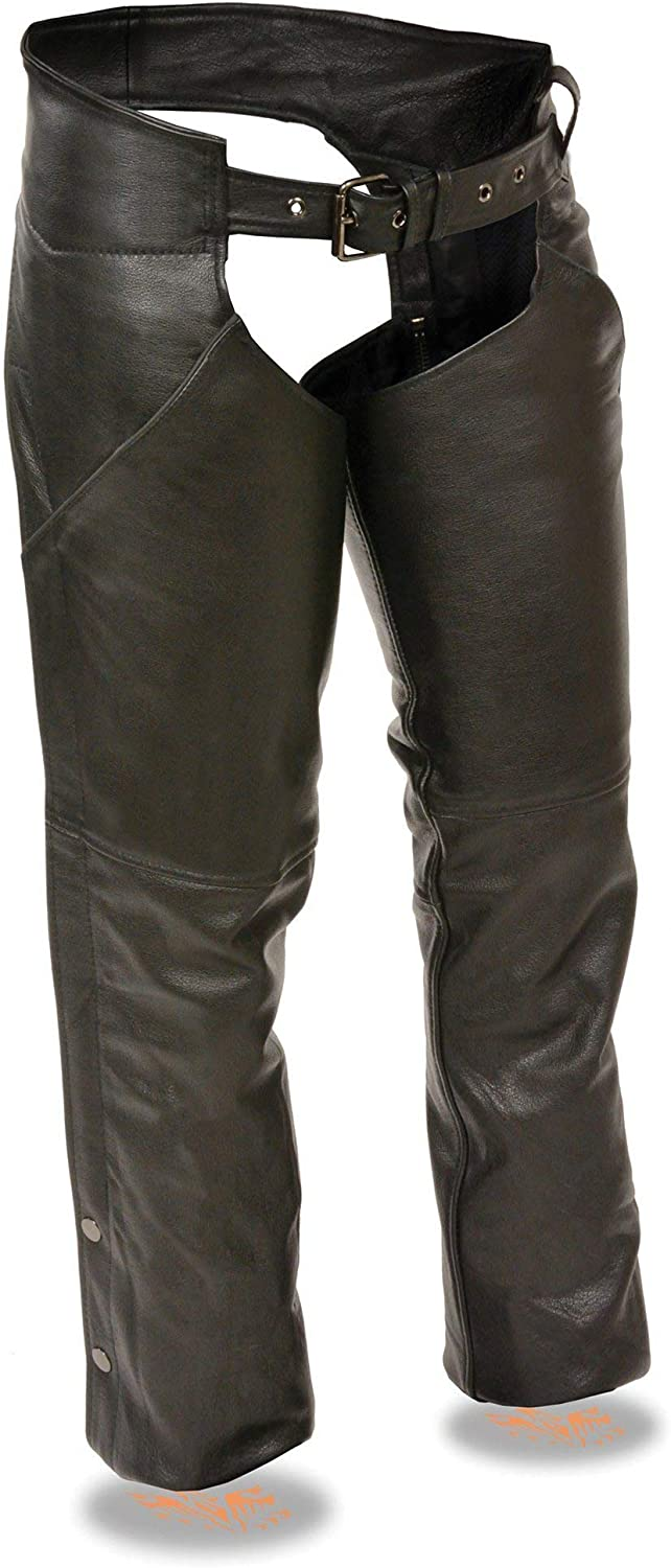 Milwaukee Leather LKL6700 Ladies Time sale Black Chaps 5% OFF wit Classic