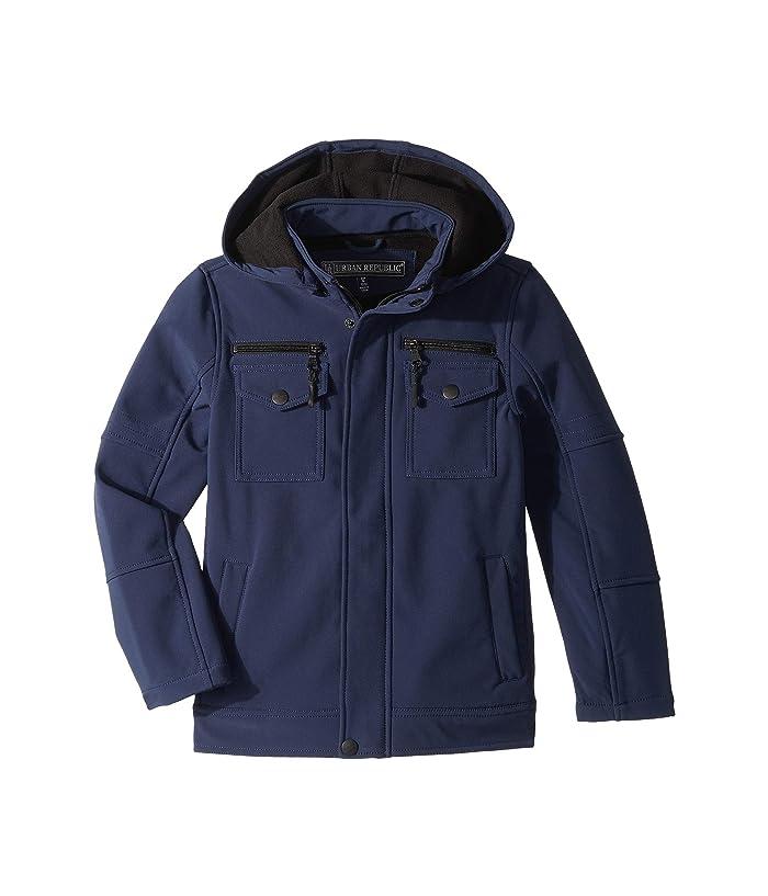 Urban Republic Kids Karl Softshell Officers Jacket w/ Zip Off Hood (Little Kids/Big Kids)