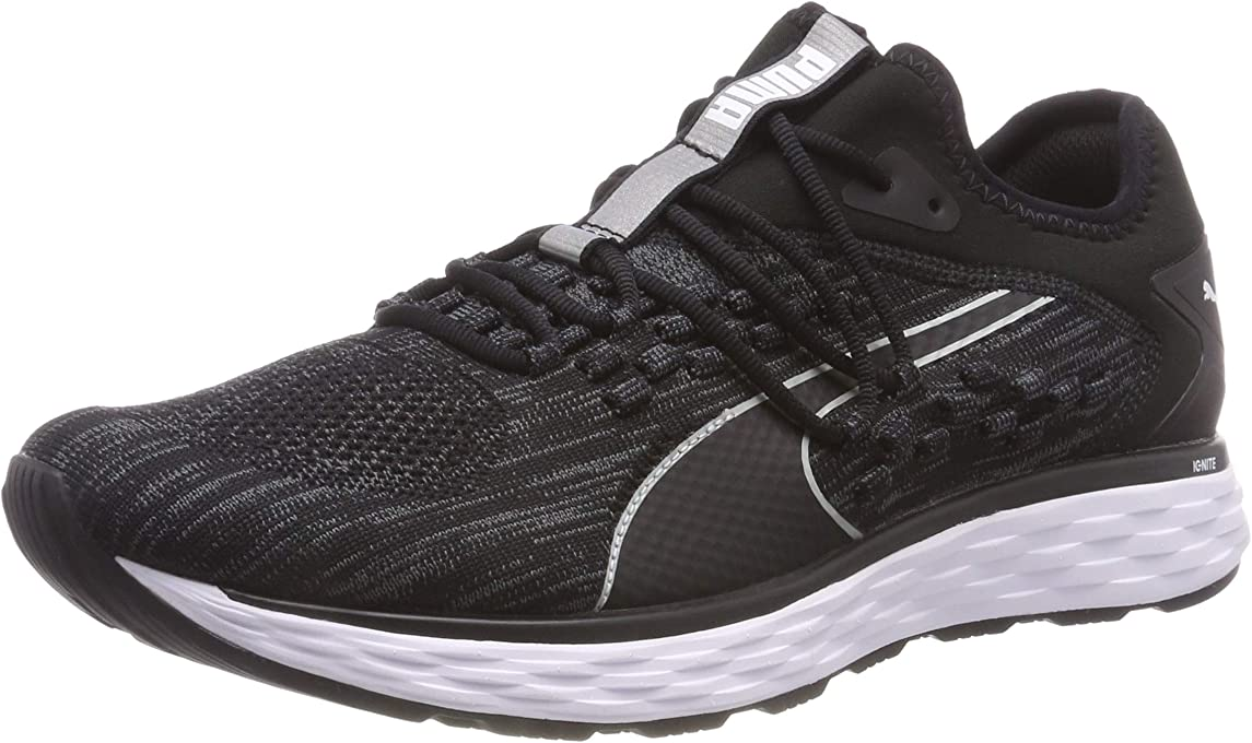 PUMA Men's Speed Fusefit Blk-Iron Gate Shoes, Black-Iron Gate