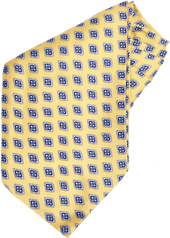 Men's Yellow Gold Silk Ascot
