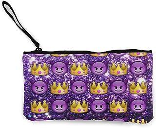 キャンバス小銭入れ紫色のファンタジー蝶変更、名刺、コイン パッケージ、財布ユニセックス