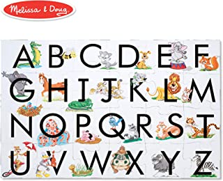 """Melissa & Doug ABC Learn the Alphabet Floor Puzzle (Easy-Clean Surface, Promotes Hand-Eye Coordination,24 Pieces, 24"""" L x 36"""" W)"""