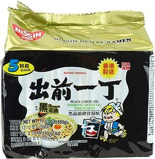 Nissin Black Garlic Oil Tonkotsu Instant Noodle 5 Packets, 500 g, Pork