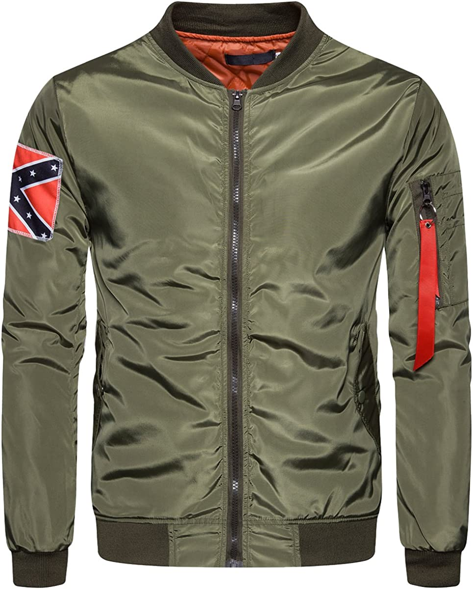 Financial sales sale Cottory Men's MA-1 Slim Fit Bomber with Jacket Same day shipping Patches Flight Ra