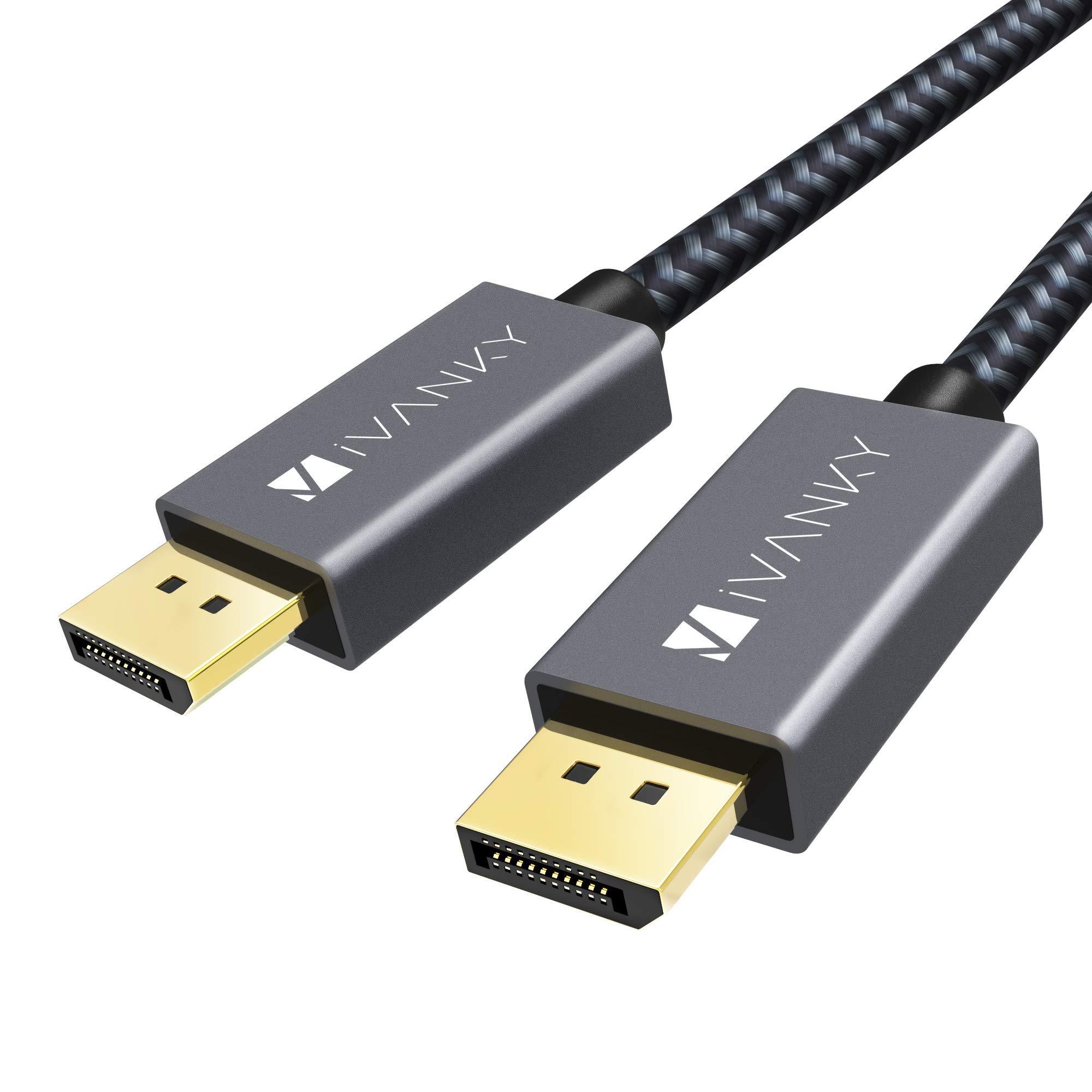 IVANKY Cable DisplayPort (3M/10ft, 2K@165Hz, 2K@144Hz, 4K@60Hz ...