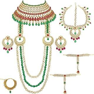 Traditional Ethnic Indian Kundan Dulhan Bridal Jewellery Set for Women (BLP009MG)