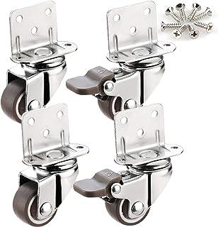 YJJT Vervangend wiel, Wielen voor meubels, Geschikt voor kleine meubels, Kleine karren, Kantoorstoel roterende wielen, Hui...