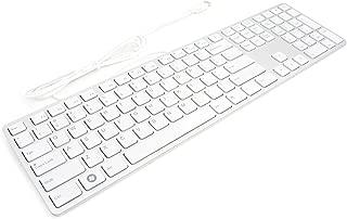 I-Rocks White Aluminum X-Slim Keyboard for PC (KR-6402-WH)