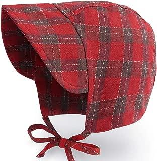 Baby Denim Bonnet Brimmed Toddler Boys Girls Hat Vintage Pilot Cap Cotton Lined Infant Beanie, 4-20m