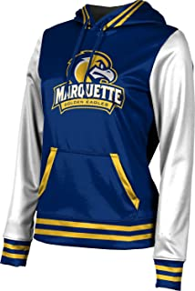 Marquette University Girls' Pullover Hoodie, School Spirit Sweatshirt (Letterman)