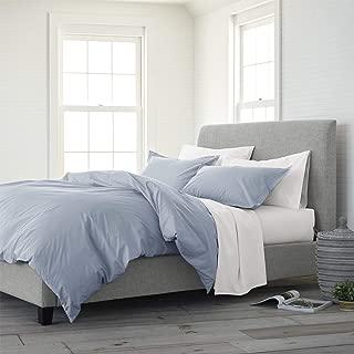 EcoPure 100% Organic Cotton Wash Comforter Set, Twin, Light Blue