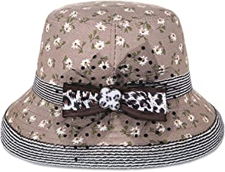 Lei Zhang Hat Female Spring and Summer Korean Version of The Light Green Fresh Printing Shade hat Popular Plus hat 檐 (Color : Light Coffee, Size : M56-58cm)