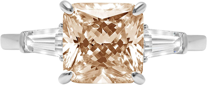 Clara Pucci 3.6 ct Asscher Long-awaited Baguette 3 Luxury goods Solitaire stone cut Accent