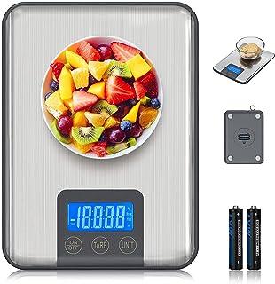 Adoric Báscula digital electrónica profesional, 15 kg, con gran superficie de pesaje, precisión hasta 1 g (peso máximo de ...