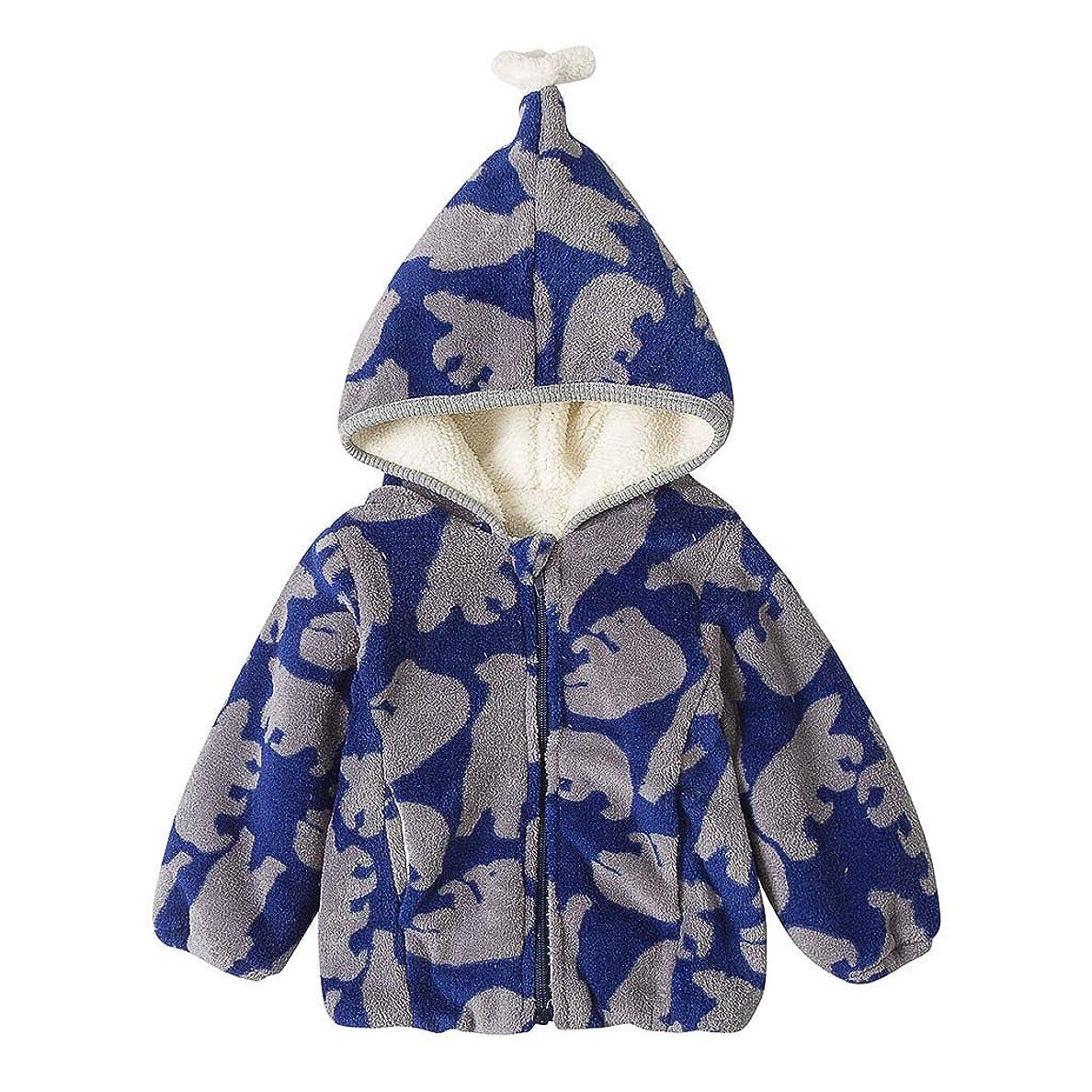 気分が悪いつばショッピングセンターかわいい柄あたたかい男の子女の子赤ちゃん冬コートジャケット子供ジップ厚いスノースーツパーカーオーバーコート屋外かわいいルースソフト快適なブラウストップス