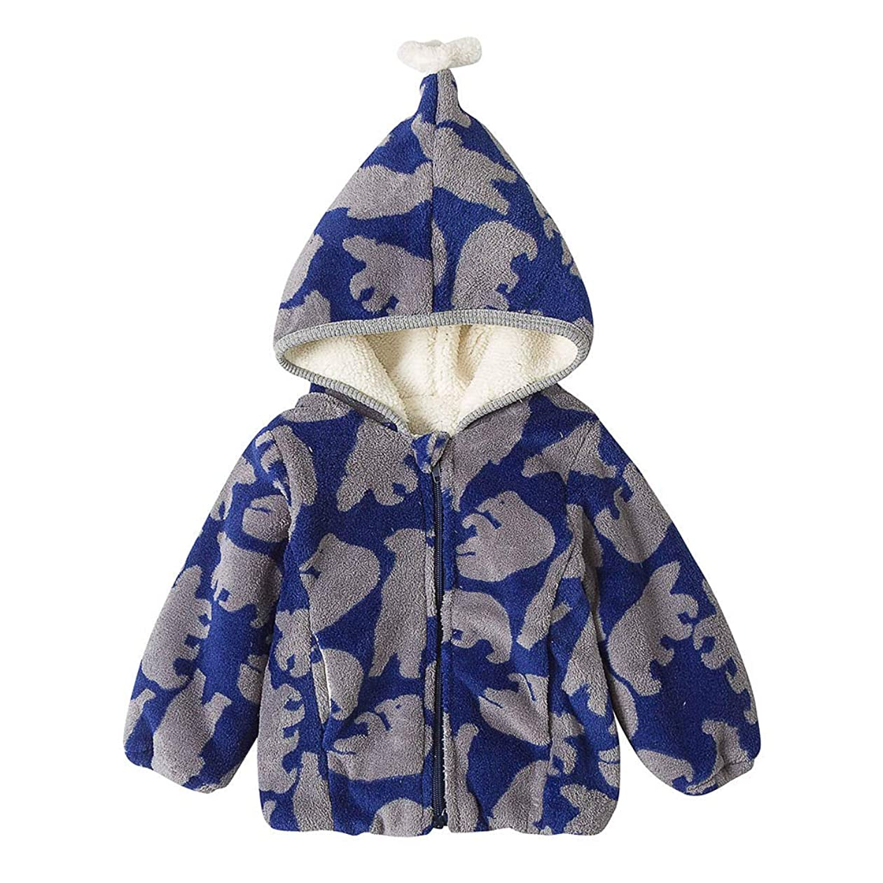 ぼんやりしたスーパー無意識かわいい柄あたたかい男の子女の子赤ちゃん冬コートジャケット子供ジップ厚いスノースーツパーカーオーバーコート屋外かわいいルースソフト快適なブラウストップス