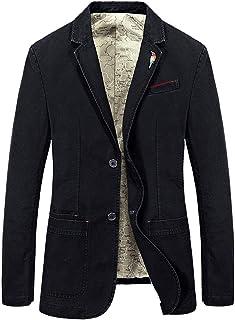 Men's Blazer Autumn Cotton Suit Jackets Long Sleeve Coat Comfortable Sizes Men Casual Short Coat Casual Single-Breasted Ja...