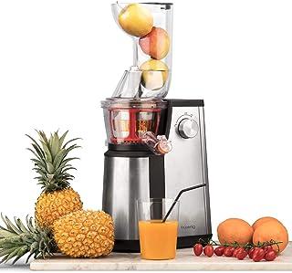 H.Koenig Extracteur Fruits et Légumes Vertical GSX22 Centrifugeuse Vitamin + sans BPA-82 mm Large Bouche-3 Tamis pour jus ...