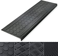 Indoor & Outdoor Bullnose Rubber Non-Slip Stair Treads, 10