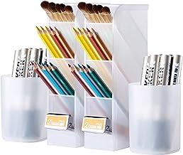 4 Pcs Pen Organizer, Desk Organization, Wellerly Cute Desk Pencil Markers Holder Storage..