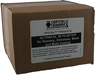 Ultracal 30 Plaster for Mold Casting, Scenery, Dioramas, and Dentistry 5 lb Pack Resealable Bag Great for Model Making & G...