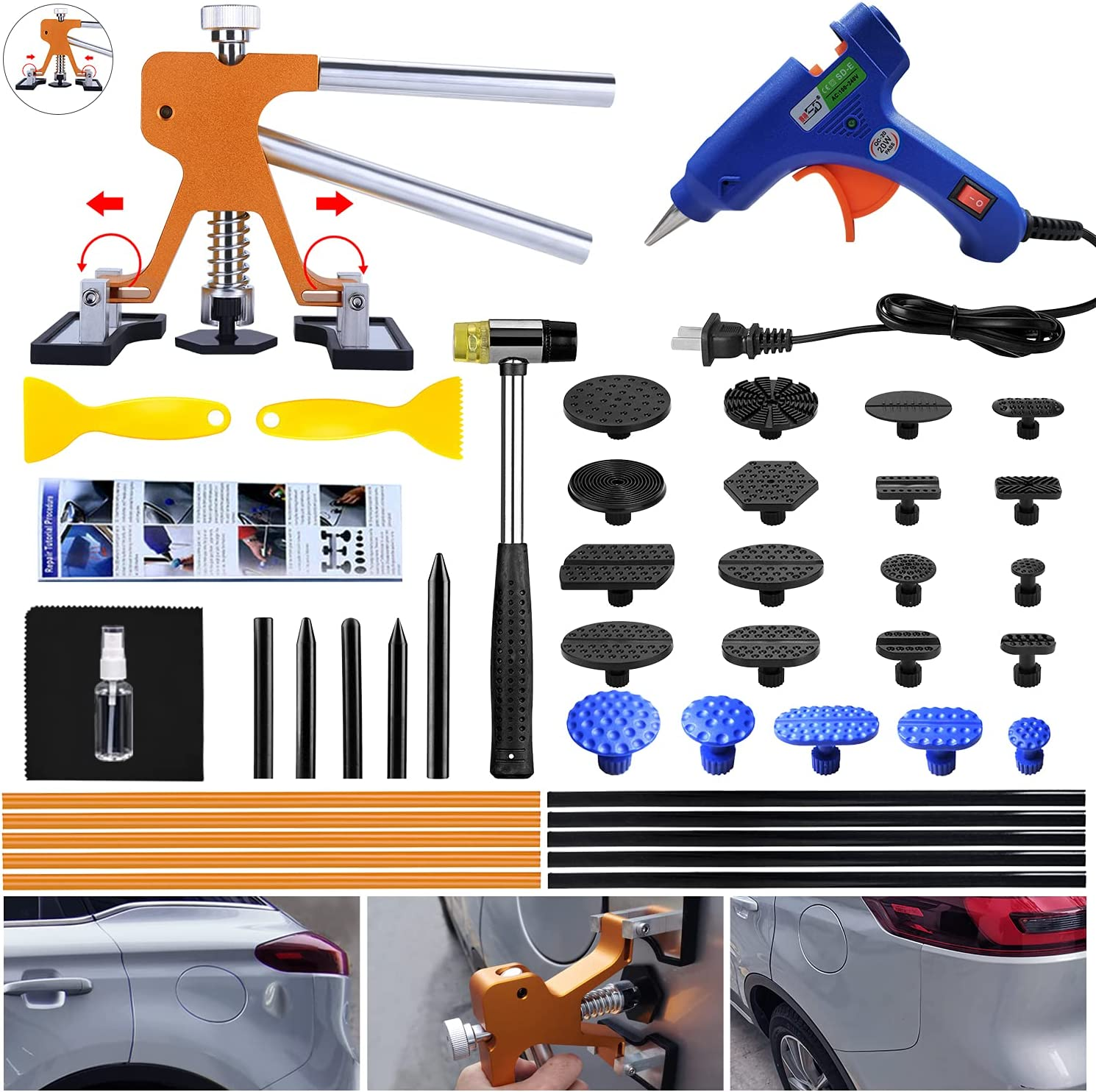 Randalfy Max 63% OFF Auto Body Dent Puller - Repair Adjust with Car Genuine Kit