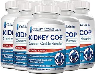 Kidney COP Calcium Oxalate Protector 120 Capsules, Patented Kidney Support for Calcium Oxalate Crystals, Helps Stops Recur...