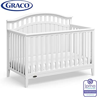 Graco Harper 4-in-1 Convertible Crib with Drawer (White) Easily Converts to Toddler Bed Day Bed or Full Bed,Three Position Adjustable Height Mattress,Some Assembly Required (Mattress Not Included)