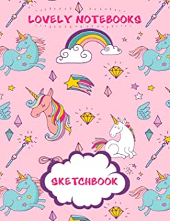 Sketchbook: Cute Unicorn: 120 Pages of 8.5