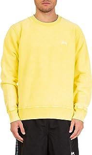 Luxury Fashion | Stussy Mens 118310115335 Yellow Sweatshirt | Spring Summer 19